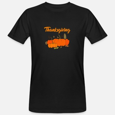 Maträtt Thanksgiving pumpa - Ekologisk T-shirt herr