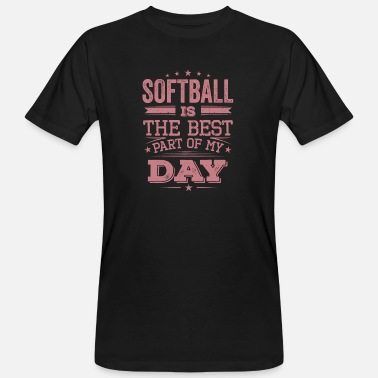 Cool Funny Retro Softball Best Part Day Sayings - Men's Organic T-Shirt