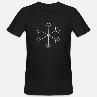 Snowflake ice crystal winter snow christmas - Men's Organic T-Shirt