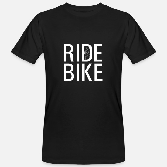 Typography T-Shirts - Ride bike! - Men's Organic T-Shirt black