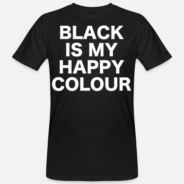 Colour Black – happy colour - Männer Bio T-Shirt