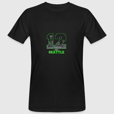 twaalf Seattle - Mannen Bio-T-shirt