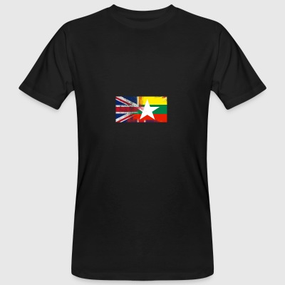 British Burmese Half Myanmar Half UK Flag - Men's Organic T-shirt