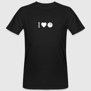 Basketball - I Love Basketball with silhouette - Men's Organic T-shirt