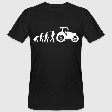 Traktor Evolution - Männer Bio-T-Shirt