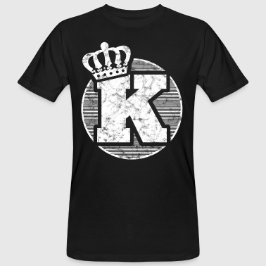 Stylish letter K with crown - Men's Organic T-shirt