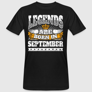 Legends zijn geboren in september Geburtstagsshirt - Mannen Bio-T-shirt