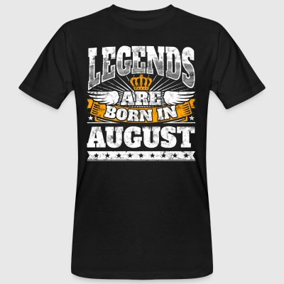 Legends are born in August Geburtstag Shirt - Männer Bio-T-Shirt