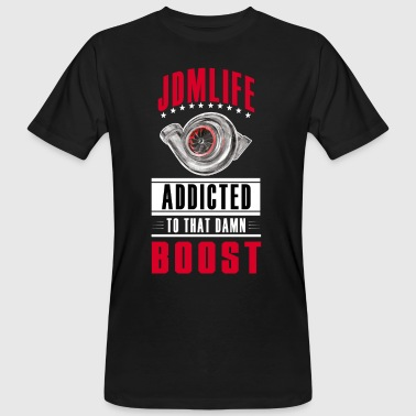 JDM LIFE - BOOST ADDICTED - cleandesign - T-shirt ecologica da uomo