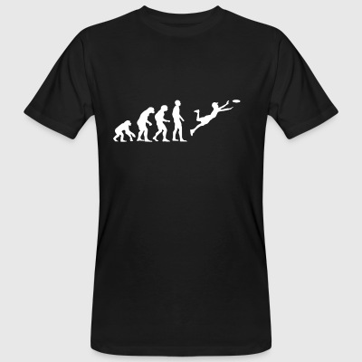 Evolution Frisbee - Männer Bio-T-Shirt