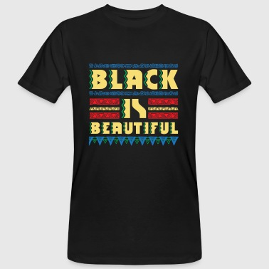 Black is Beautiful - natural african gift design - T-shirt bio Homme