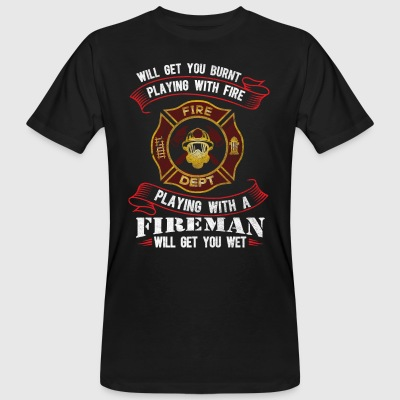 Funny firefighter shirt - Men's Organic T-shirt