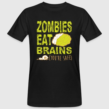 ZOMBIES ETEN BRAINS T-SHIRT - Mannen Bio-T-shirt