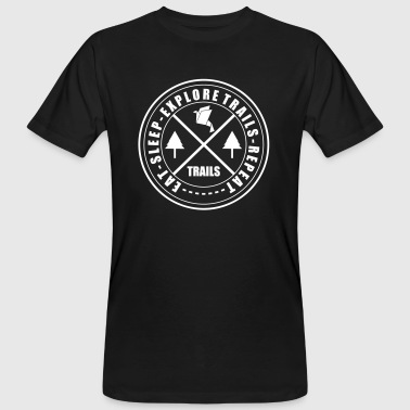 LIFESTYLE CIRCLE OF TRAILS - Men's Organic T-shirt