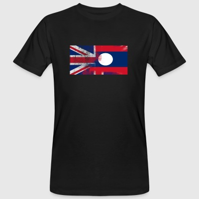 British Laotian Half Laos Half UK Flag - Men's Organic T-shirt