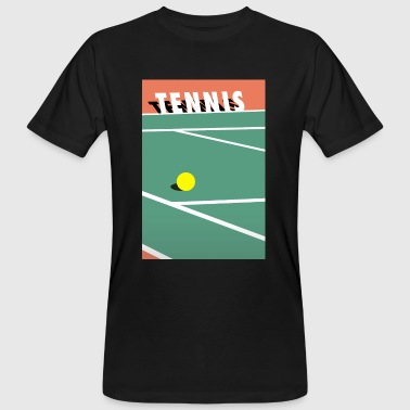 Minimalistisk Tennisbane Sports - Økologisk T-skjorte for menn