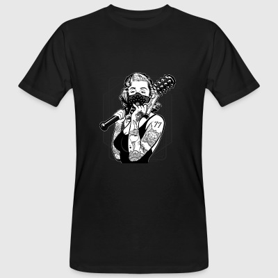 Gangster Style Woman with Tattoos and Bat T-Shirt - Männer Bio-T-Shirt