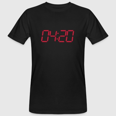 4:20 pm Seven segment digital clock - Men's Organic T-shirt