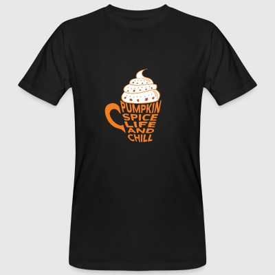 Citrouille Spice Latte Coffee Café and Chill - T-shirt bio Homme