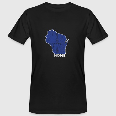 Vintage Wisconsin Home Distressed - Men's Organic T-shirt