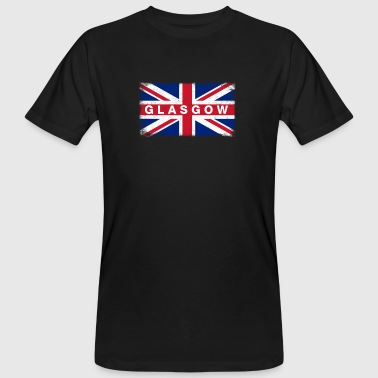 Glasgow Shirt Vintage United Kingdom Flag T-Shirt - Men's Organic T-shirt