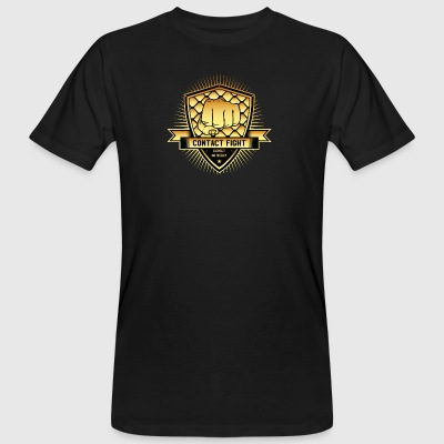 Contact Fight Gold - Männer Bio-T-Shirt