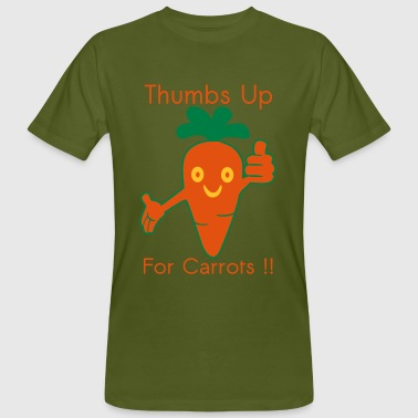 Happy Carrot Thumbs Up - Mannen Bio-T-shirt