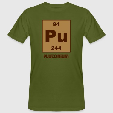 Element 94 - pu (plutonium) - Short (white) - Mannen Bio-T-shirt
