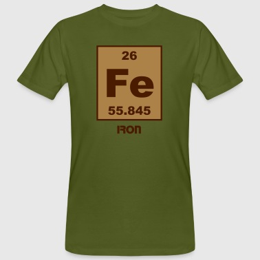 Iron (Fe) (element 26) - Men's Organic T-shirt