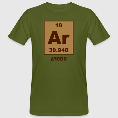 Argon (Ar) (element 18) - Men's Organic T-shirt