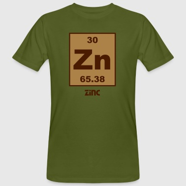 Zinc (Zn) (element 30) - Men's Organic T-shirt