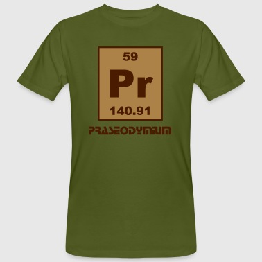 Praseodymium (Pr) (element 59) - Men's Organic T-shirt