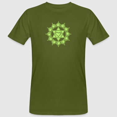 LOTUS OF THE HEART - Heart chakra - Anahata, c, Centre of love and compassion, powerful symbol - Men's Organic T-shirt
