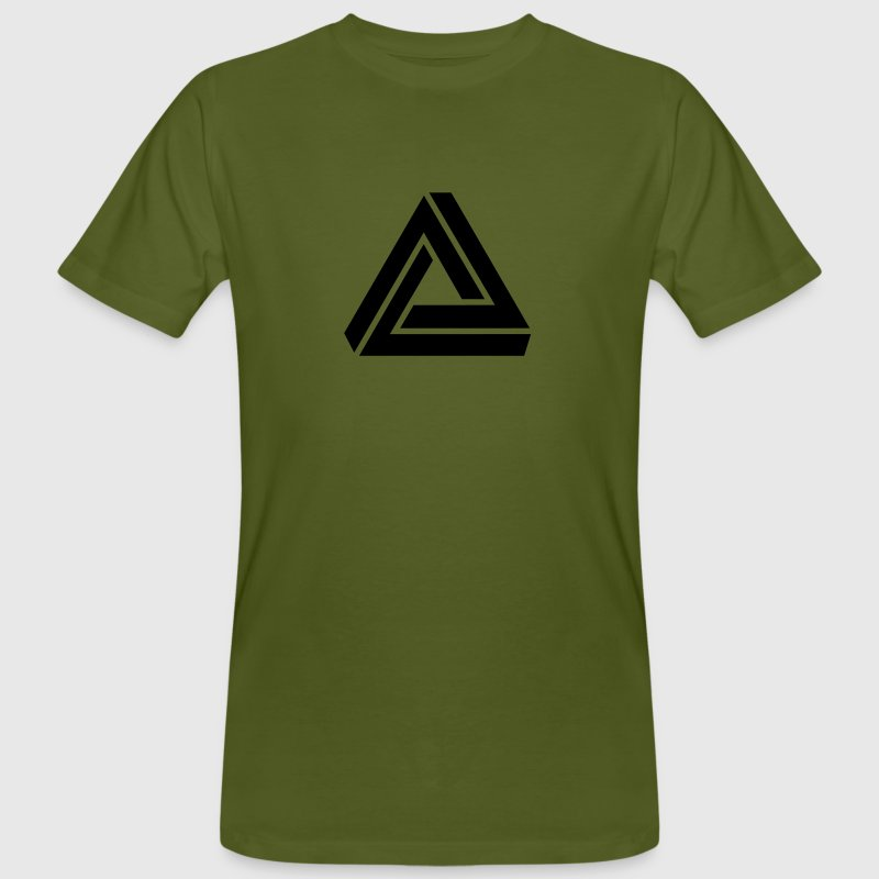Penrose triangle, Impossible, illusion, Escher - T-shirt bio Homme