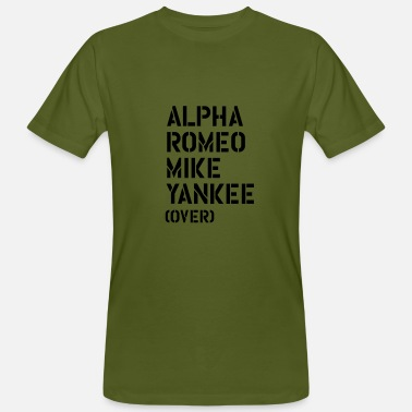 Yankee Alpha Romeo Mike Yankee - over - Men's Organic T-Shirt