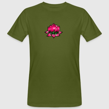 Lotus Flower, pink, digital - Men's Organic T-shirt