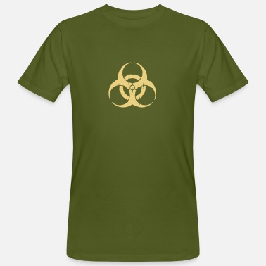 Biohazard hazard worn out / hazardous distressed - T-shirt ecologica da uomo