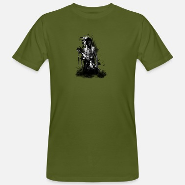 Warrior American Indian Warrior - Männer Bio-T-Shirt