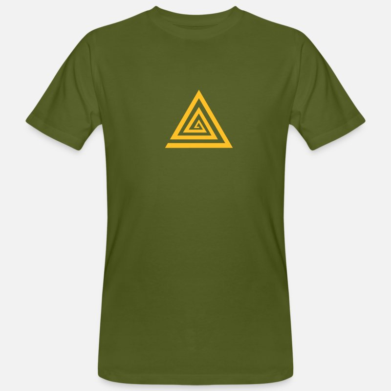 Kahuna-protection-symbol-vector-reiki T-Shirts - KAHUNA Protection Symbol, Vector, Reiki, Healing, Symbol, Sign, Powerful, Energy, Symbol, Sign, Icon. Please activate your symbol! - Mannen bio T-shirt mosgroen