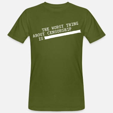 Pipa the worst thing about censorship is .......... - Men's Organic T-Shirt