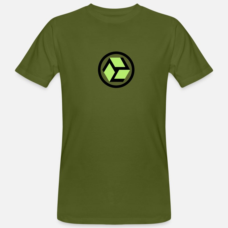 Healing T-Shirts - ANTAHKARANA: The Gateway to Heaven. Healing Symbol, Tibet, Vector - Men's Organic T-Shirt moss green