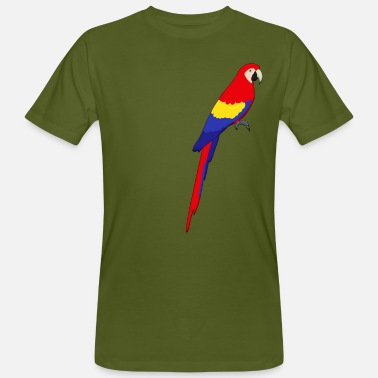 Pappagallo Macaw parrot sit I - T-shirt ecologica da uomo