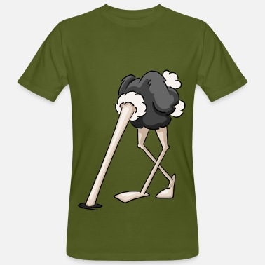 Ostrich cool ostrich head in the sand funny gift - Men's Organic T-Shirt