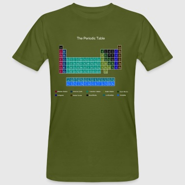 Blue Stylish Periodic Table of Elements - Men's Organic T-shirt