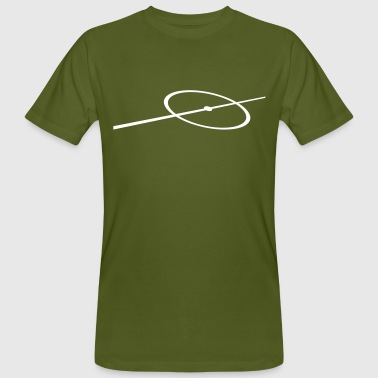 Field line circle center circle  - Men's Organic T-shirt