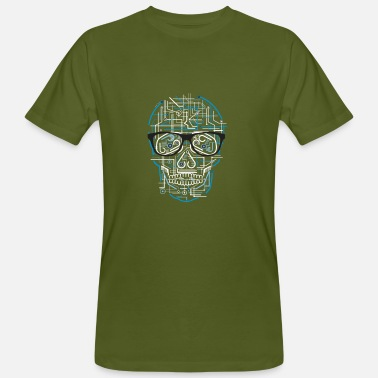 Pc Music Electric Skull DJ Techno EDM Music Shirt - Men's Organic T-Shirt