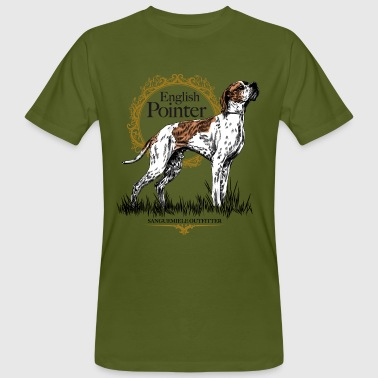 pointer on white 15 - Men's Organic T-shirt