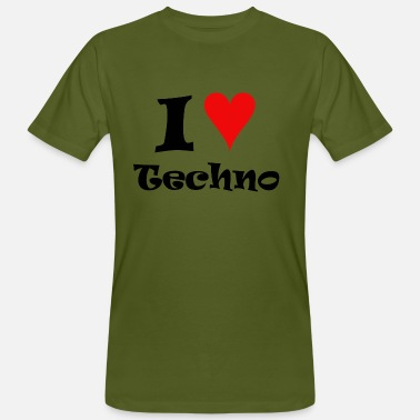 I Love Techno I Love Techno - Camiseta ecológica hombre