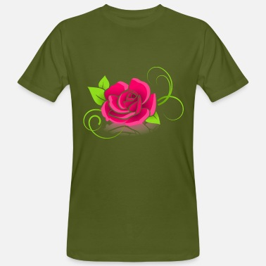 Pink Roses The pink rose - Men's Organic T-Shirt