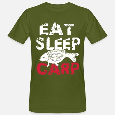 Carp Fish eat sleep carp - Men's Organic T-Shirt
